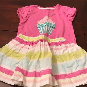 Baby Gap Cupcake Shirt and Striped Skirt Set